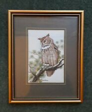 More details for cash's woven silk picture great horned owl jacquard loom artistry 15cm x 18.5cm