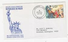 NIGER, 1976 United States Bicentenary 50f., First Day cover.