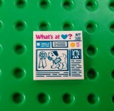 *NEW* Lego 2x2 Newspaper Tile Friends News Magazine Printed Plate x 1 piece