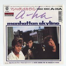 """a-ha - Manhattan Skyline (Remix)/We're Looking For The Whales (Live) 7"""" JAPAN 45"""