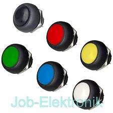 Druck-Taster schwarz rot gelb grün blau weiß 12mmØ 230V / 1A - Schalter Hupe KFZ