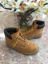 "Timberland 12709 Premium NuBuck 6"" GS Kid Youth Wheat Waterproof Boots Sz 3M EUC"