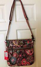 Oilily Picnic Bag Brown Multi Shoulder Purse Handbag Brown New Polyester