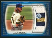 2021 Topps Definitive Jumbo Relic Patch Blue Game Used Josh Hader 18/30