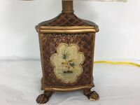 Vintage Hand Painted Asian Bird Ginger Jar Shape Electric Table LAMP