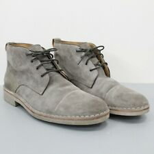 John Varvatos Men's Gray Suede Lace Up Chukka Boots Size 9 M