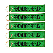 5 Pack Remove Before Flight Key Chain Green & Black aviation truck motorcycle