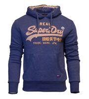 Superdry Mens Vintage Logo Racer Hoodie Overhead Sweatshirt Blue Marl