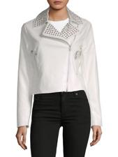 Bagatelle Women's White Studded Biker Jacket Size L MSRP: $299