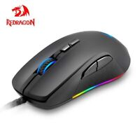 Redragon M718 RGB LED Backlit USB Wired Gaming Mouse Mice 10000 DPI Side Buttons