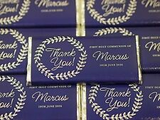 1x Communion Confirmation Baptism Personalised Chocolate MUST ORDER 20 OR MORE