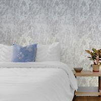 Gray Silver metallic faux plaster stone textures modern textured wallpaper rolls