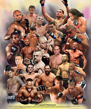 UFC LEGENDS AND SUPERSTARS 23 MMA Fighters POSTER Print Gracie Shamrock Liddell+
