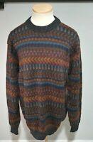 Vintage D'Stylo 100% Alpaca Masterpiece Colorblock Sweater Cosby 90s Size XL