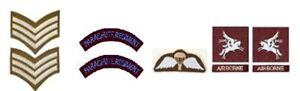 1/6 scale WW2 British Parachute Regiment Post 1944 Patch lot