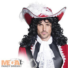 Authentic Pirate Hat Adults Fancy Dress Captain Hook Mens Costume Accessory New