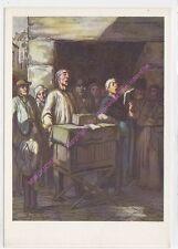 CP ART Postcard TABLEAU DAUMIER Orgue de barbarie
