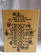 Me & Carrie Lou Ecclesiastes Bible Scripture Season & Time Large Rubber Stamp