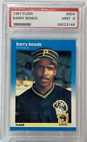 1987 Fleer #604 Barry Bonds PSA Mint 9 Pittsburg Pirates Rookie Card