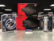 KICKER 44KXA24001 KXA2400.1 SUB AMP + 44KXA400.4 + 0 GAUGE AMP KIT + 2 FARAD CAP