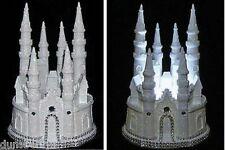 Glittered & Gemmed Cinderella/Fairytale Castle/Wedding Cake Topper/Night Light