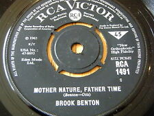 "BROOK BENTON - MOTHER NATURE, FATHER TIME / YOU'RE MINE    7"" VINYL"