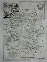 WILTSHIRE original antique county map, Thomas Kitchin, 1786