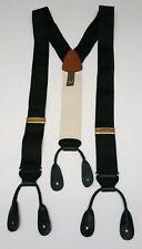 New Trafalgar Suspenders Black & White Adjustable Straps W 1.5in Braces