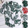 Hawaiian Mens Short Sleeve Casual Floral Shirts Seaside Holiday Blouse Tee Tops