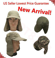 HIKING//GOLF//FISHING//CAMPING OUTDOOR LIGHT TAN NECK FLAP ONE SIZE  FITS MOST NWT