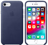 """Bleu nuit iPhone SE / 8 / 7 4,7"""" Apple Original Véritable Coque en cuir"""