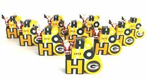 Danbury Mint NFL Green Bay Packers Christmas Tree Ornaments Lot of 10 Wholesale
