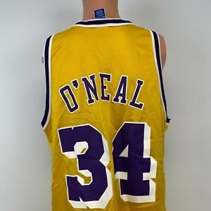 Champion Shaquille O Neal Los Angeles Lakers Replica Jersey Vtg 90s NBA Shaq 44