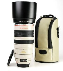 Canon EF 100-400mm Image Stabiliser F4.5-5.6 L IS USM Zoom Lens + Caps,Hood EXC
