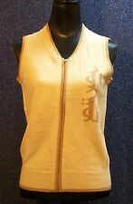 New Pure Camel Women's Camel Wool Knit Vest Size Medium