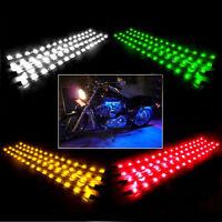 "4PCS 12"" Flexible 12V Waterproof LED Strip Underbody Light Motorcycle Car Truck"