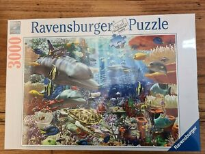 Turtle Dolphin Jigsaw Puzzle 3000pc ravensburger Ocean Coral Animal Shark Fish