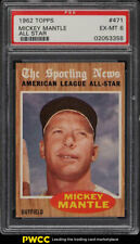 1962 Topps Mickey Mantle ALL-STAR #471 PSA 6 EXMT (PWCC)
