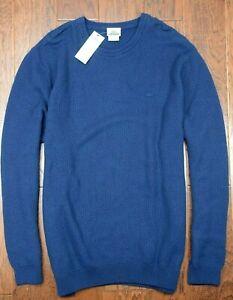 Lacoste $185 AH2888 Men's Crew Neck Dark Blue Dyed 100% Cotton Sweater 3XL EU 8
