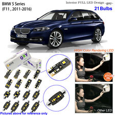 21 Bulbs White LED Interior Dome Light Kit For F11 BMW 5 Series (Panoramic Roof)