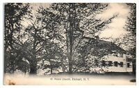 Early 1900s St. Peters Church, Hobart, NY Postcard *5F13