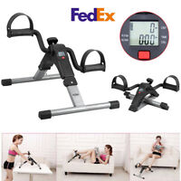 Foldable Pedal Exercise Machine Cycle Fitness Digital  Leg Arm Exerciser Bike