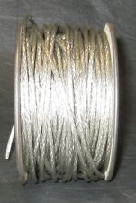1' Clear Outer Jacket Braided Wire w/ 22 AWG Tinned Stranded for Guitar Amp