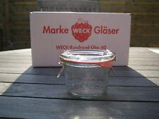 12 Stück Weck ® 80ml Sturzform  / Einmachgläser / Einweckglas / Bonbonglas