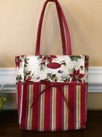 Longaberger Tote Bag Small Holiday Christmas Retired