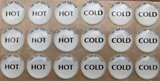 Tap Button Stickers Hot & Cold Tap Decals Hot & Cold Indicators x 18 pieces