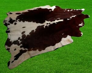 "New Cowhide Rugs Area Cow Skin Leather 22.53 sq.feet (59""x55"") Cow hide A-6728"