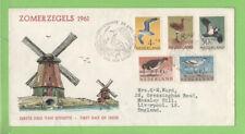 Netherlands 1961 Beach Meadow Birds set First Day Cover