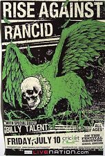 Rise Against / Rancid 2009 San Diego Concert Tour Poster - Skull Head On Eagle