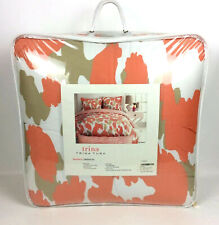 Trina Turk Comforter Set Twin XL Linx Leopard Orange Brown Dorm Bedding New